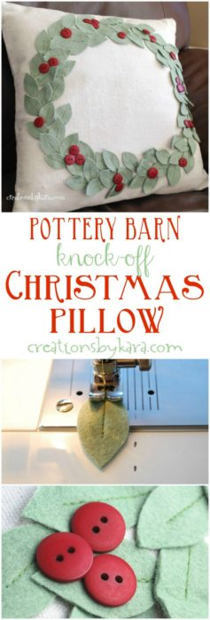 pottery-barn-knock-off-christmas-pillow