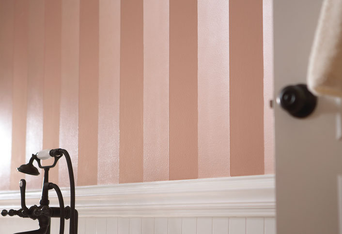Paint vertical stripes for Bedroom stripe paint ideas