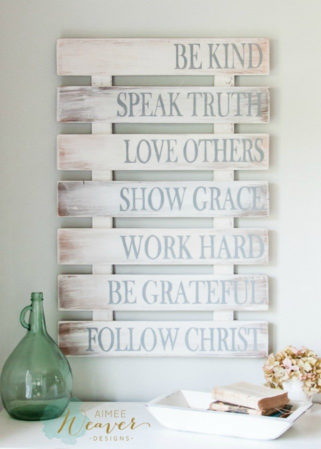 Family rules wood sign for Home decorating guidelines