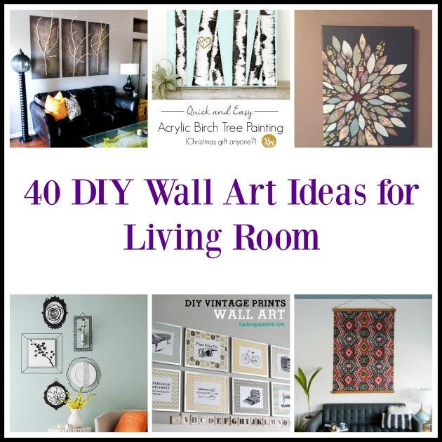 40 DIY Wall Art Ideas for Living Room