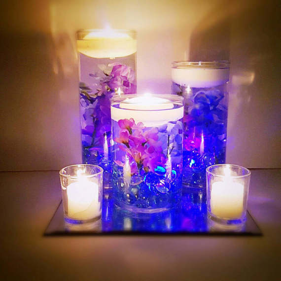 Floating Candle Wedding Centerpiece Bigdiyideas Com