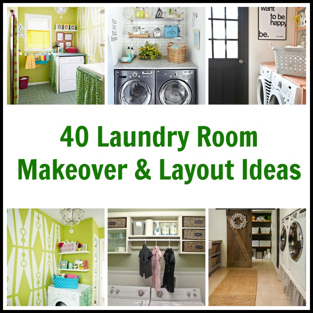Laundry Room Before & After Makeover & Layout Ideas