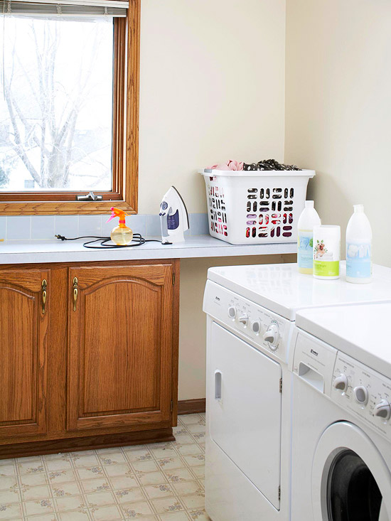Bhg Colorful Laundry Room Makeover Before