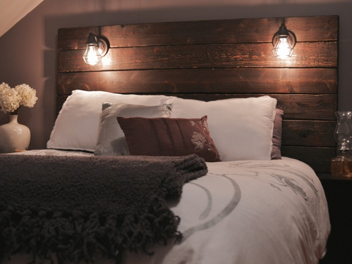 Build a rustic wooden headboard for Large headboard ideas
