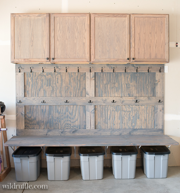 40 cheap diy garage storage ideas you can do for Garage mudroom designs