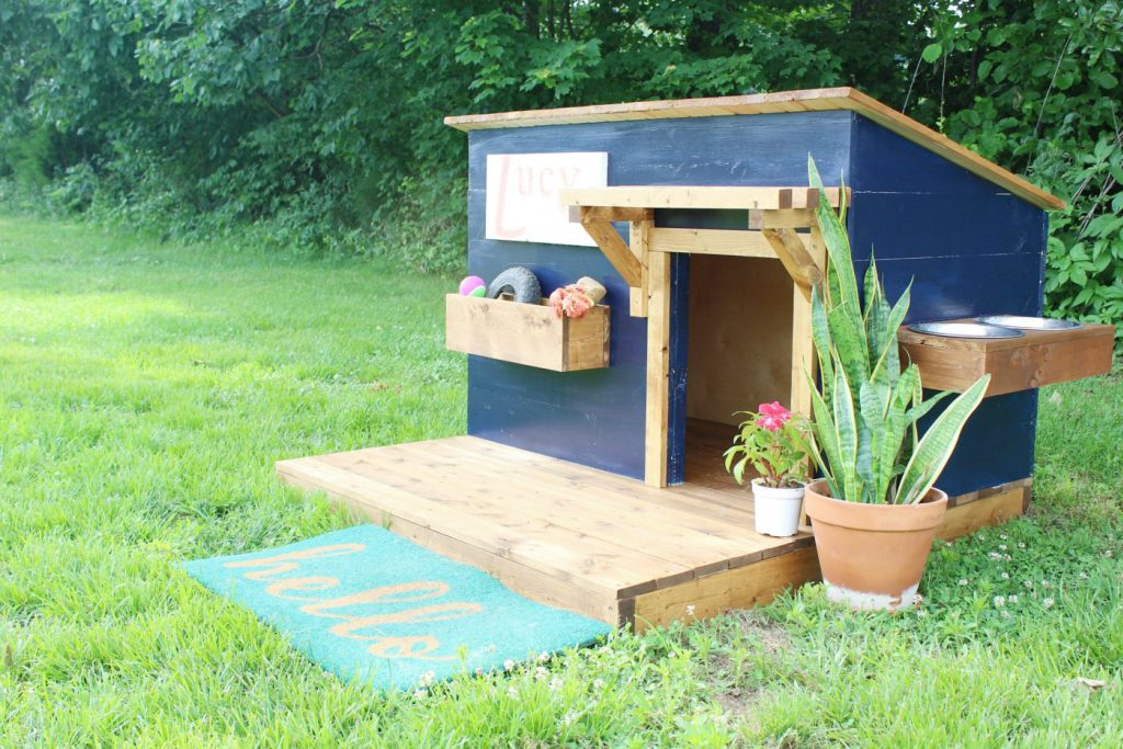 A new home for lucy modern diy dog house for Modern dog house designs