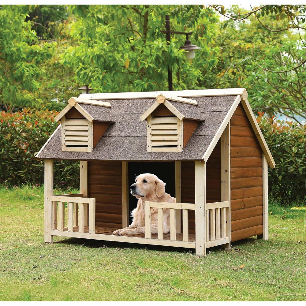 Home Design Ideas For Dogs: Adirondack Cabin Dog House
