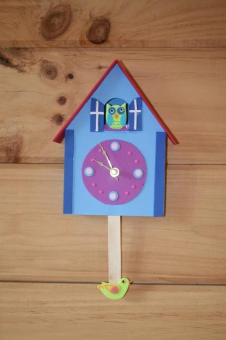 Diy foam cuckoo clock for kids do it your self 2017 How to make a cuckoo clock