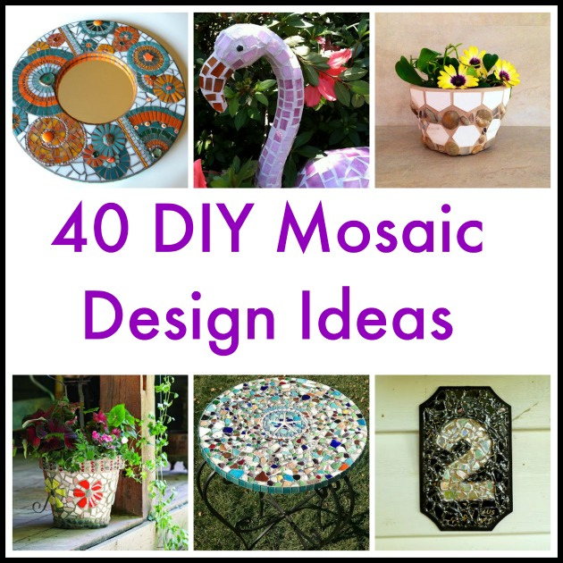 40 diy mosaic design ideas with tile rocks and glass - Mosaic Design Ideas