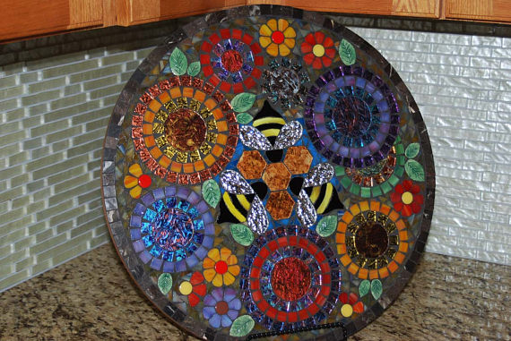 lazy susan mosaic - Mosaic Design Ideas