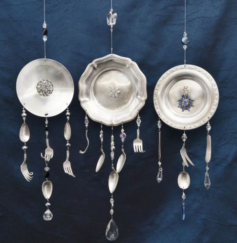 40 homemade wind chimes for Wind chimes out of silverware