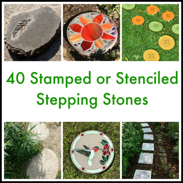 40 Stamped or Stenciled Stepping Stones