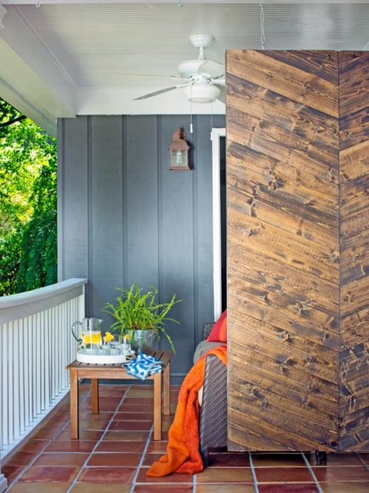 How to Build a Herringbone Privacy Screen. 40 DIY Indoor Privacy Screens
