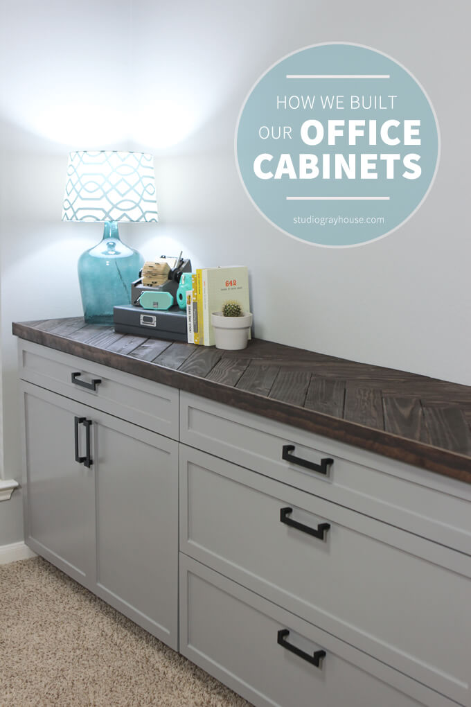 Building office cabinets for Diy home office cabinets