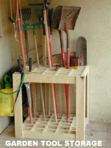 40 diy garden and yard tool storage ideas for Garden tool storage ideas