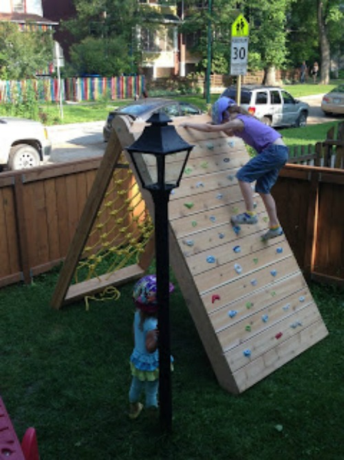 Kids Climbing Play Structure Building A Climbing Wall And