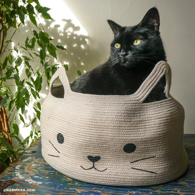 40 fun cat toys and play space ideas for Homemade cat bed