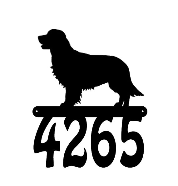 Golden Retriever Metal Address Numbers Bigdiyideas Com