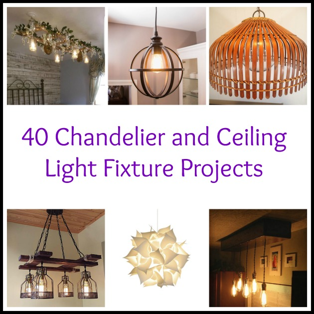 40 diy chandelier and ceiling light fixture ideas aloadofball Choice Image