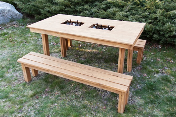 diy patio table with cooler - Diy Outdoor Furniture