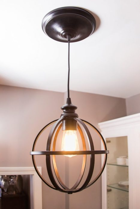 40 diy chandelier and ceiling light fixture ideas for Diy pendant light