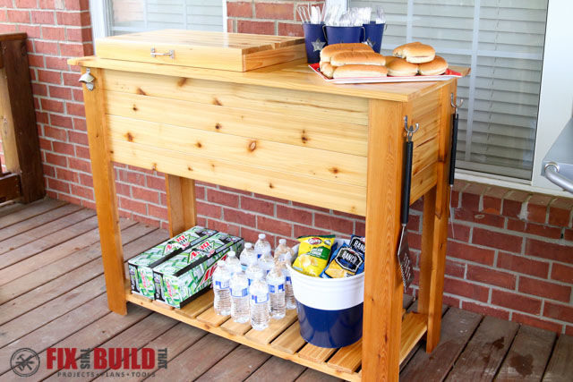 40 diy cooler carts and stands for Diy patio table with cooler