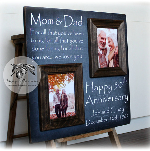 Then And Now Picture Frame 50th Anniversary Gift