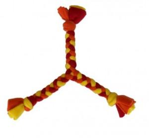 DIY Dog Toy: Fleece Pull