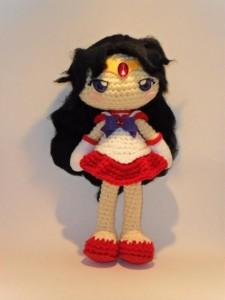 Sailor Mars crochet doll