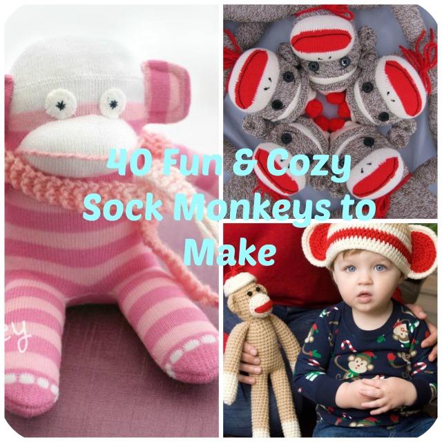 a52e47a8bff 40 Fun and Cozy Sock Monkeys to Make