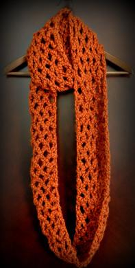Diamond Lattice Chain Crochet Infinity Scarf Classy Crochet
