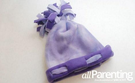 No Sew Fleece Hat for Kids