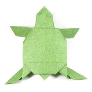Origami Chameleon by Quentin Trollip - Yakomoga Origami tutorial ... | 300x300
