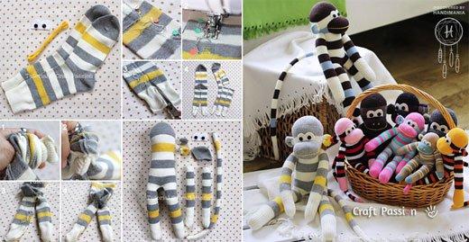 40 Fun And Cozy Sock Monkeys To Make Mesmerizing Sock Monkey Pattern