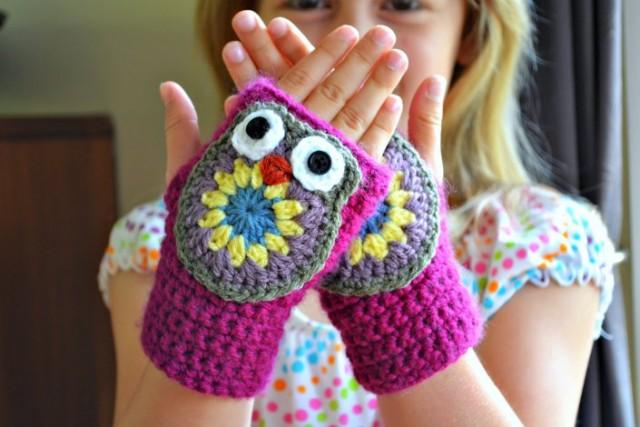 crochet-owl-mitts