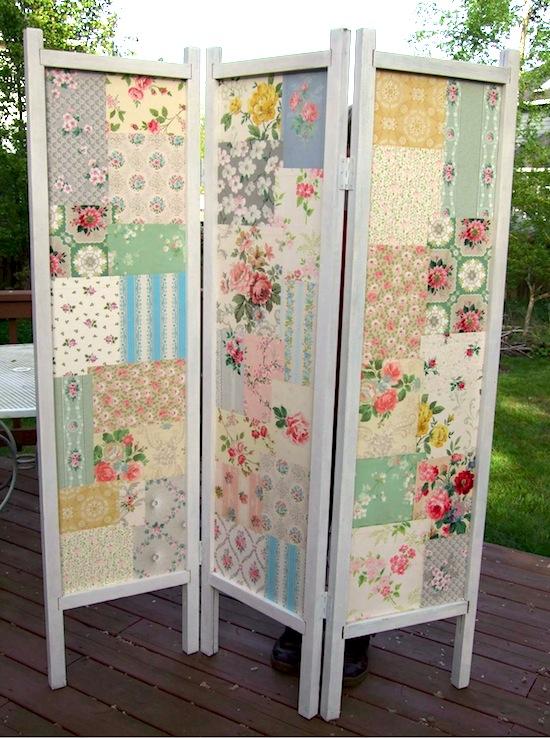 Fabric DIY Folding Screen