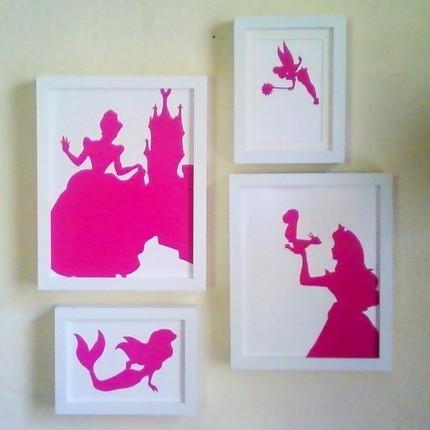 40 sweet and fun diy nursery decor design ideas diy nursery silhouette artwork solutioingenieria Images