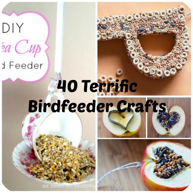 How To Make 40 Terrific Homemade Birdfeeders