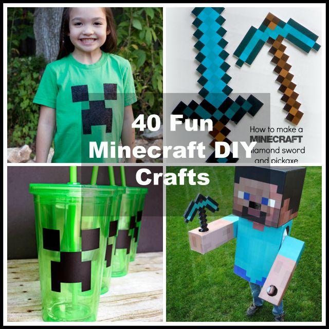 40 minecraft diy crafts party ideas