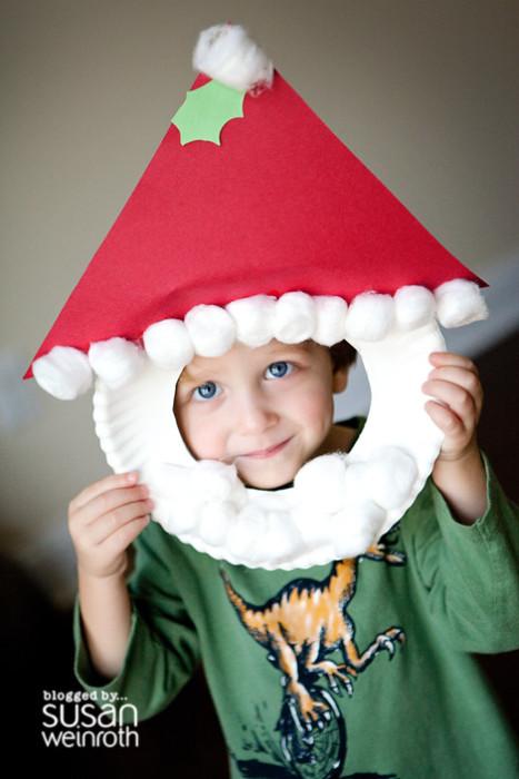 Santa Paper Plate Mask
