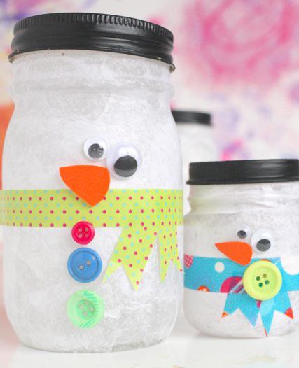 Snowman Luminaries - BigDIYIdeas.com