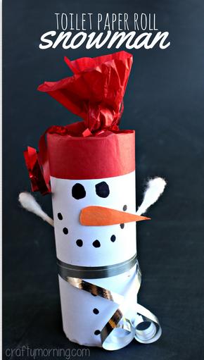 Toilet Paper Roll Snowman