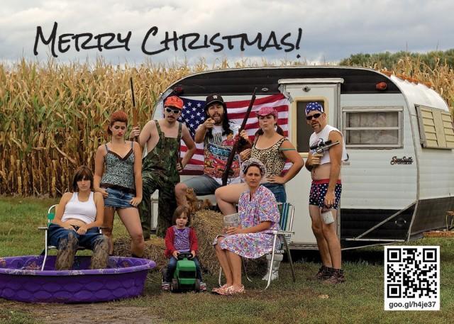 Arrested Christmas Card