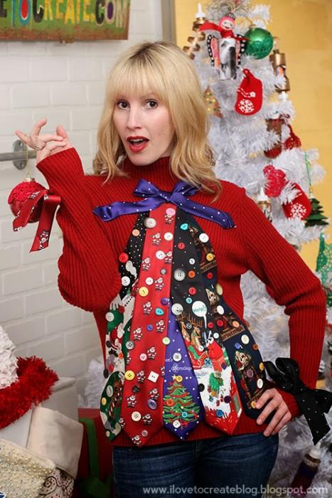53 diy ugly christmas sweater ideas christmas tree sweater solutioingenieria Images