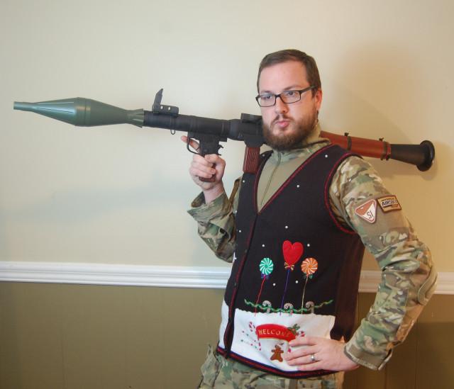 Funny Vest Christmas Card