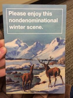 Funny Winter Scene Holiday Card