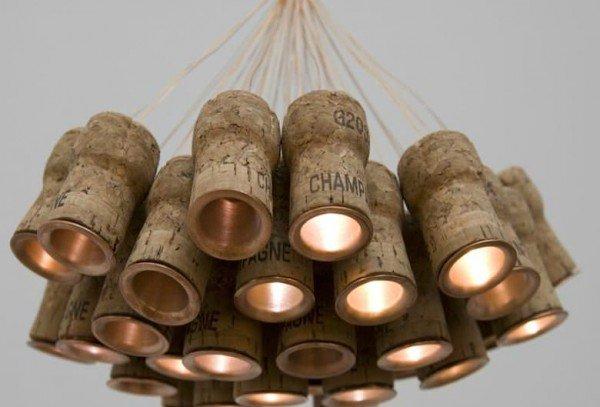 Champagne Cork Chandelier
