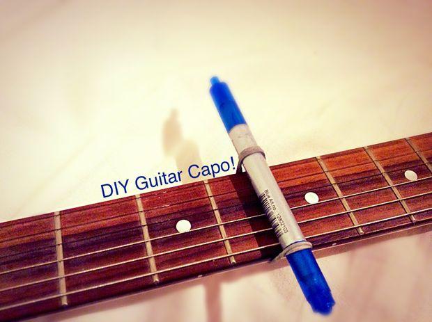 25 cool diy guitar art projects diy guitar capo solutioingenieria Images