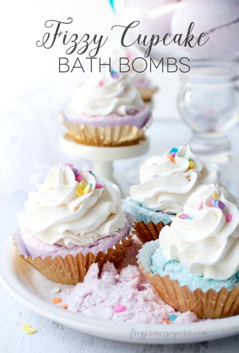 Fizzy Cupcake Bath Bombs