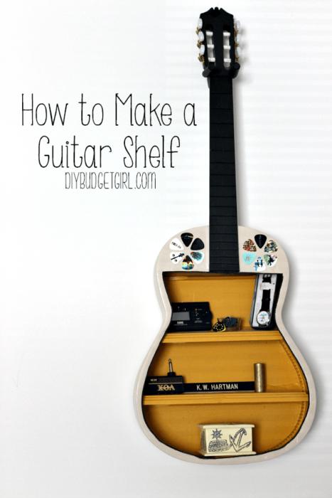 25 cool diy guitar art projects howtomakeaguitarshelf solutioingenieria Images